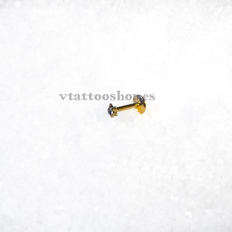 ESTRELLA ANODIZADO ORO LABIO 1.2 x 8 mm