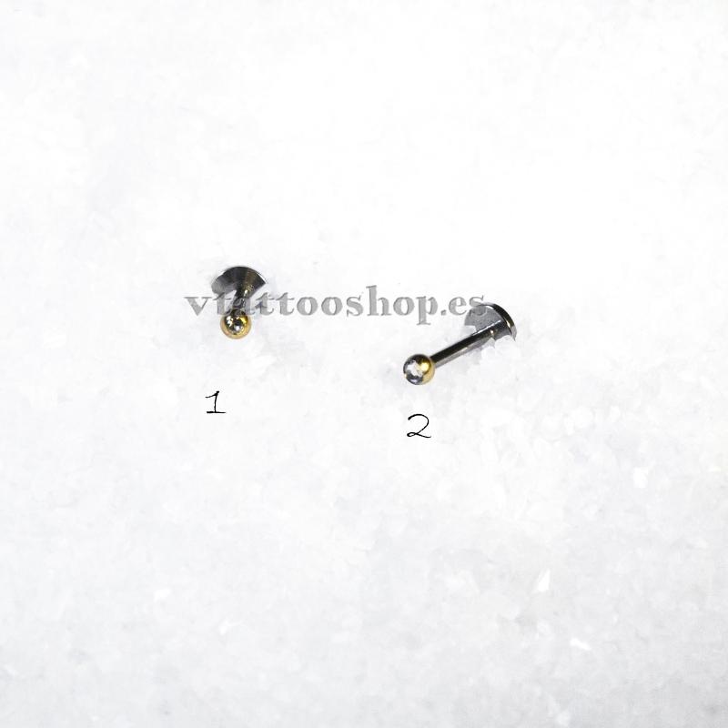 MICROBOLA BRILLANTE ANODIZADO ORO LABIO 1.2 x 8 mm