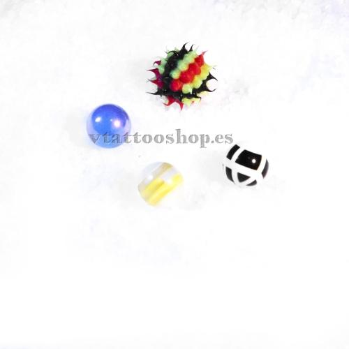 PACK AHORRO BOLAS OMBLIGO 1.6 x 8 mm