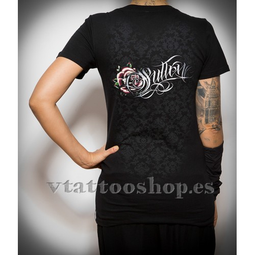 Sullen Victorian rose woman t-shirt