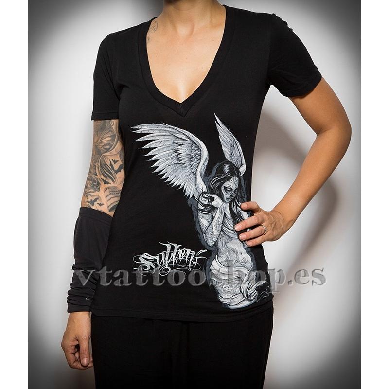 Sullen Fallen Angel woman t-shirt