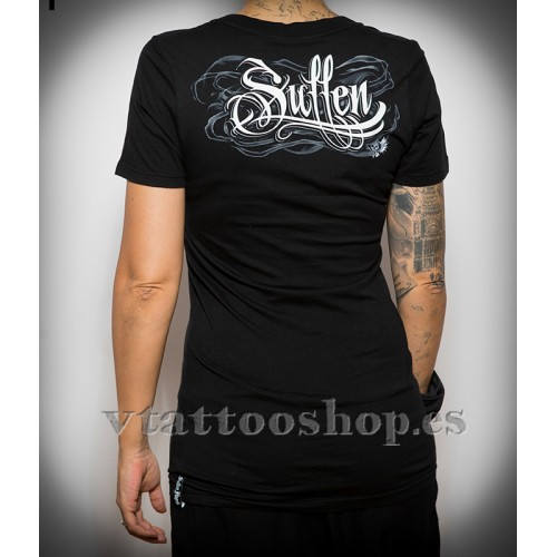 SULLEN SMOKEY SKULL WOMAN T-SHIRT