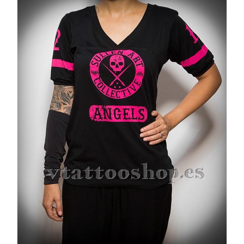 Sullen Score pink woman t-shirt