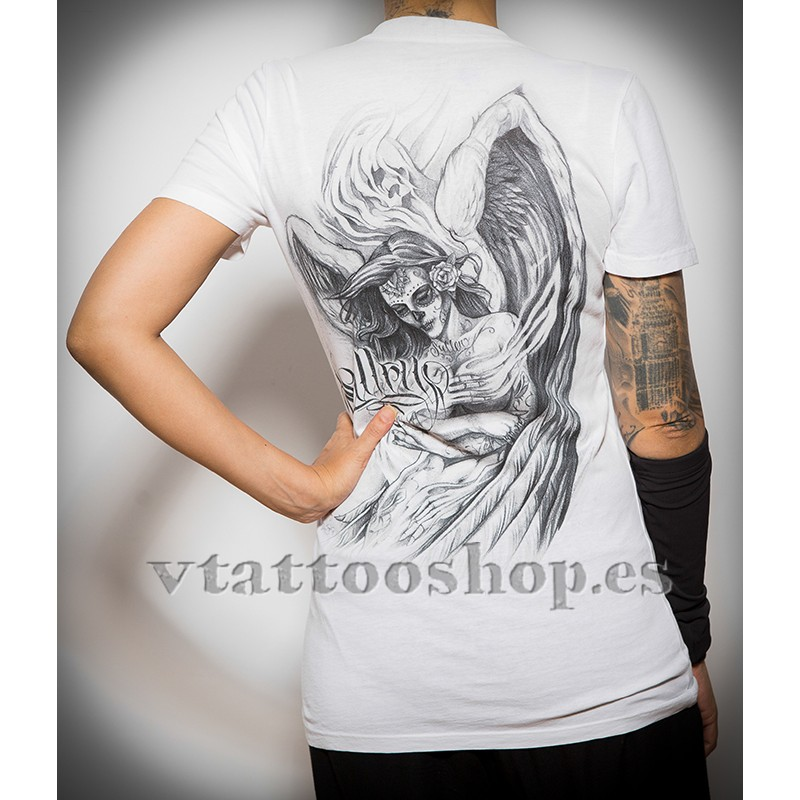 Sullen white Embrance woman t-shirt