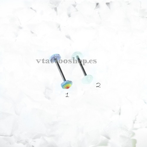 BOLA PLANA ARCO IRIS O LISO 1.6 x 15 mm LENGUA
