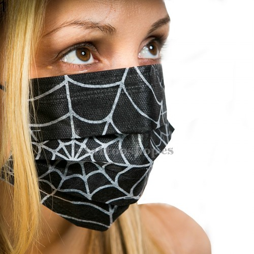 MASCARILLAS 3 PLIEGUES SPIDER 10 uds.