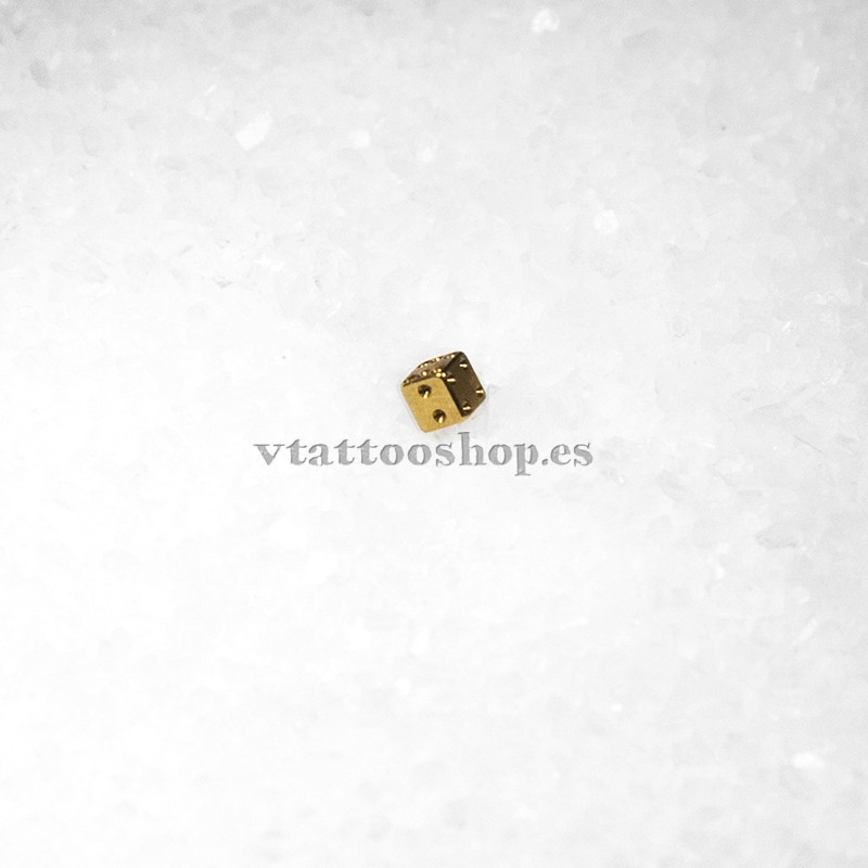 MICRO BOLA BAÑO ORO CON BRILLANTE BLANCO 1.2 x 2.5 mm