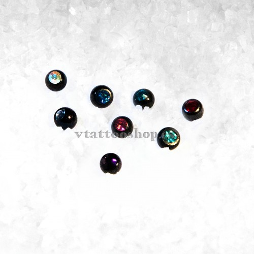 BOLA ACERO NEGRO BRILLANTE 1.2 x 3 mm