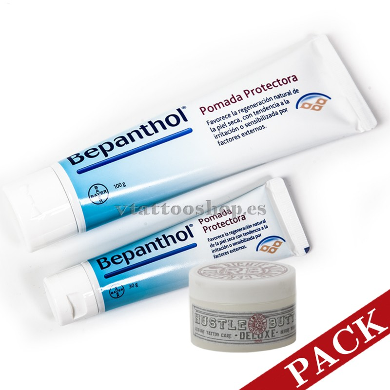Pack 50 Bepanthol 30gr + Hustle Butter 150ml