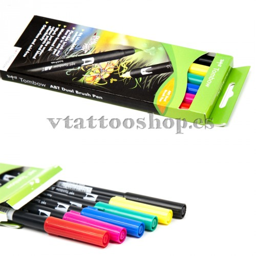 ROTULADORES TOMBOW PACK 6 COLORES