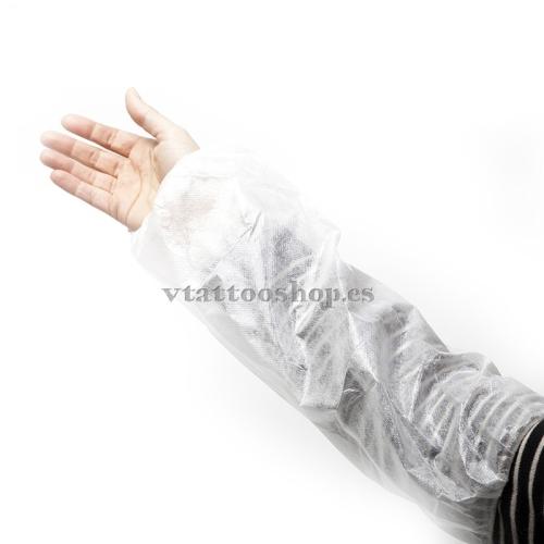 Mangas desechables blancas
