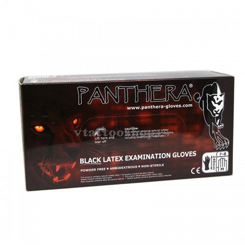 guantes negros latex panthera