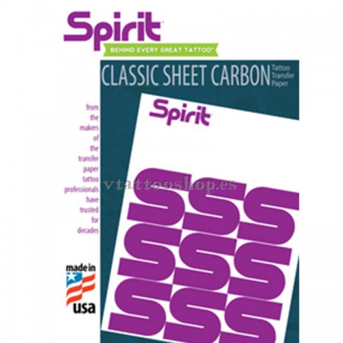 PAPEL TRANSFER MANUAL CARBÓN SPIRIT 100 uds.
