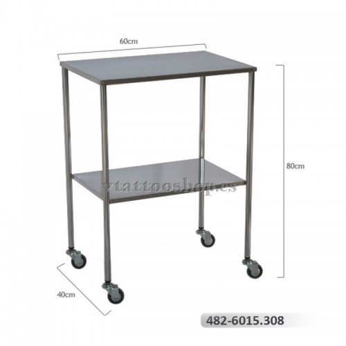 Side table, chrome-plated steel