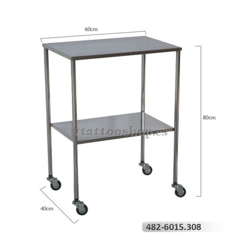 Mesa auxiliar acero cromado