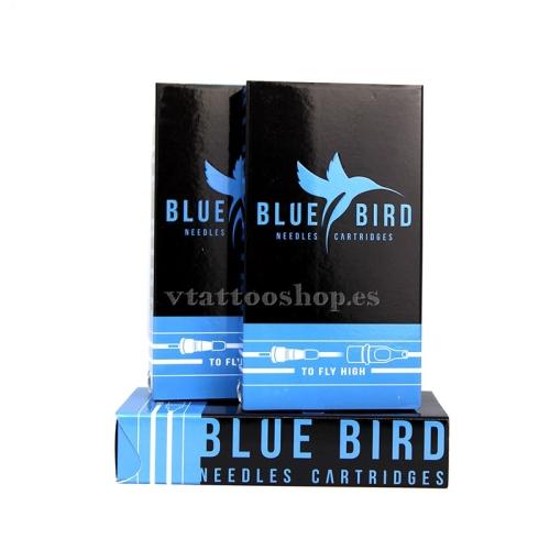AGUJAS BLUE BIRD REDONDA SOMBRAS RS (5-14) CON CARTUCHO