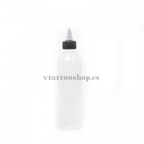 SELF-CLOSING PLASTIC BOTTLE 120 ml.
