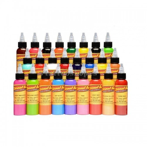 SET 25 TINTAS DE COLORES ETERNAL INK 30 ml.