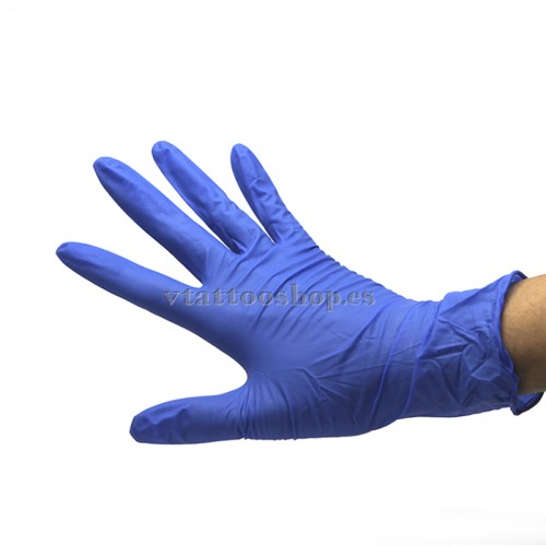 Guantes latex sin polvo azules - VTattoo