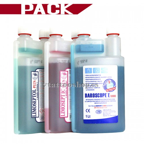 PACK LIMOSEPTIC PLUS 1 litro + LIMOSEPTOL PLUS 1 litro + DAROSCOPE E TURBO 1 litro