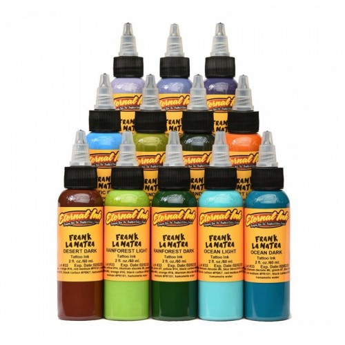 Set of 12 Eternal Ink Frank La Natra Atmospheric Landscapes Set 30ml (1oz)