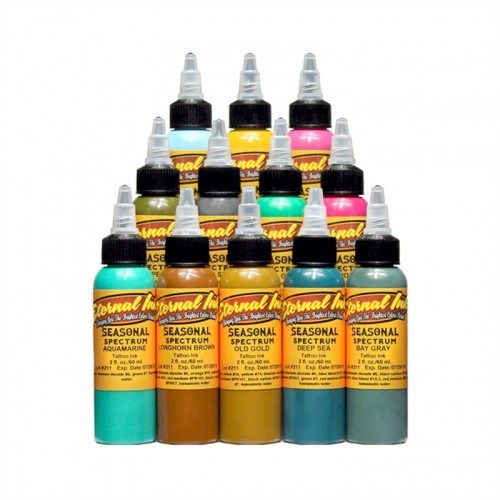 Set of 12 Eternal Ink Chukes Seasonal Spectrum 30ml (1oz)