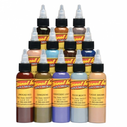 Set 12 colores Eternal Ink Zombie Colours 30ml (1oz)