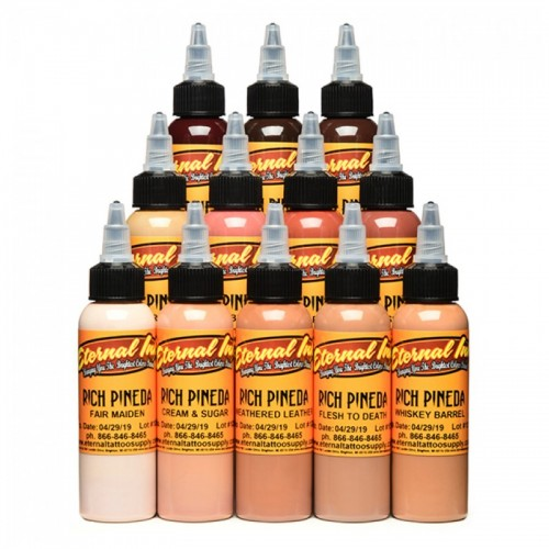 Set 12 colores Eternal Ink Rich Pineda´s flesh to death 30ml (1oz)