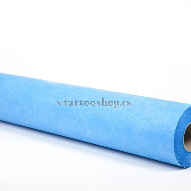 Papel de camilla azul no traspasa