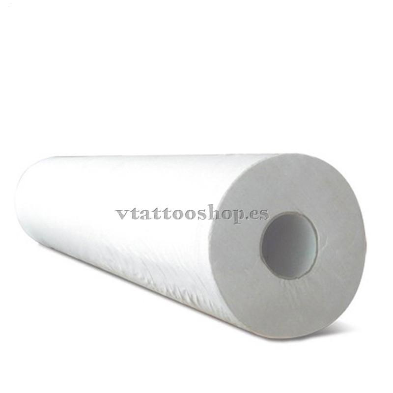 Papel de camilla blanco liso