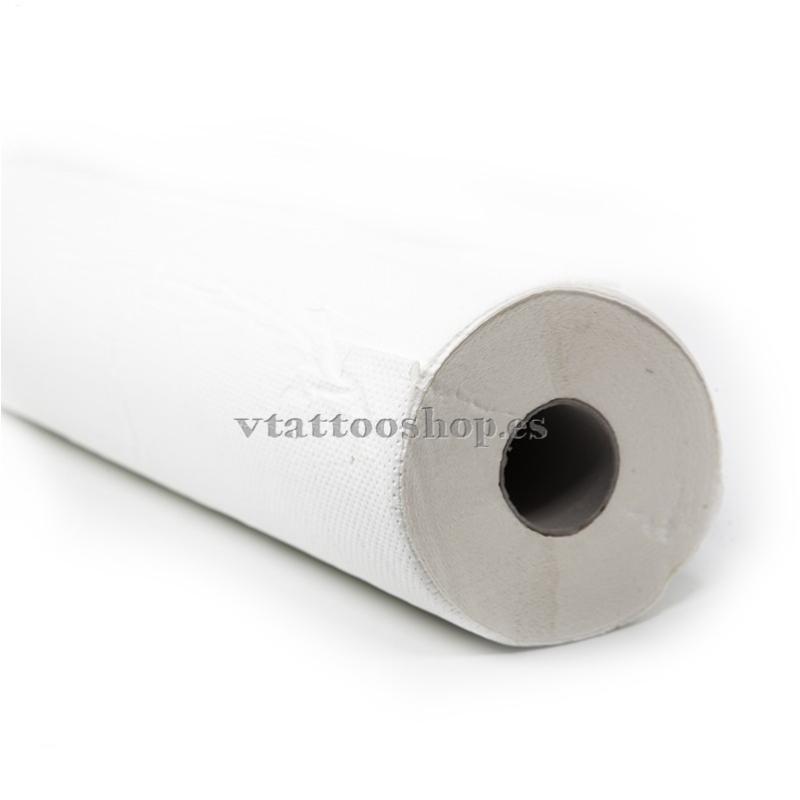 Papel de camilla blanco gofrado eco 6 u.