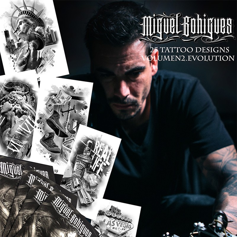 Libro de Tatuajes Tattoo Designs MIguel BohiguesVol2 EVOLUTION