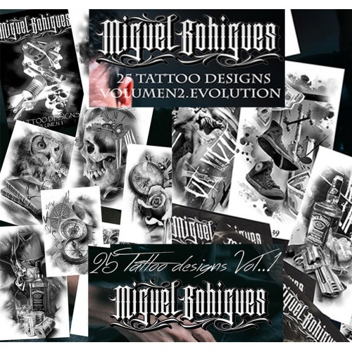 Libro de Tatuajes Tattoo Designs Vol 1 y 2 EVOLUTION
