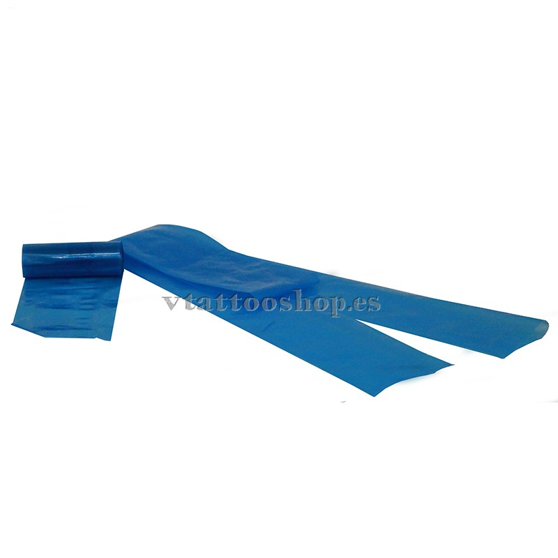 Blue clip cord disposable bags