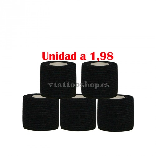 GRIP COVER 50 mm BLACK 5 pcs.