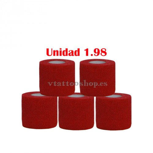 GRIP COVER 50 mm RED 5 pcs.