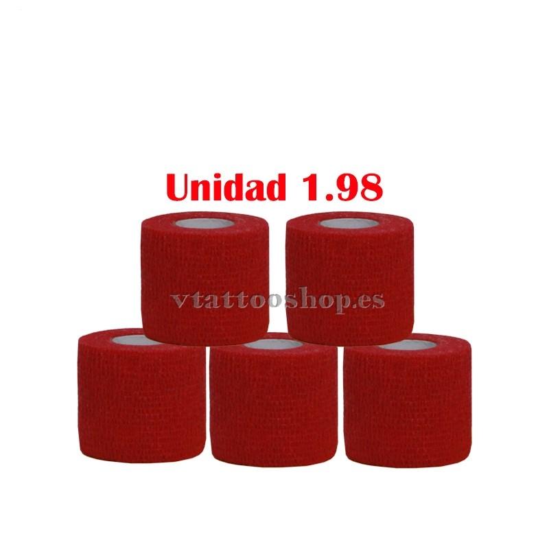 cohesive bandage red 5 units