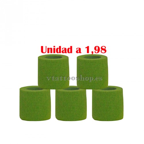 cohesive bandages green 5 units