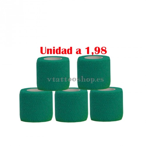 cohesive bandages green dark 5 units