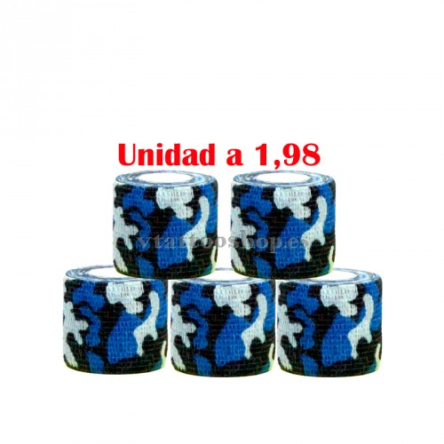 cohesive bandages military blue 5pcs