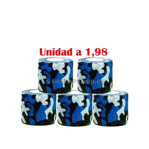 vendas cohesivas militar azul 5 uds.