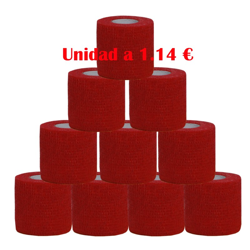 cohesive bandage red 12 units