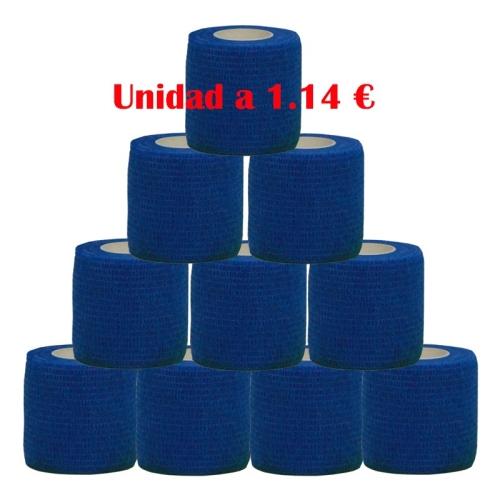 cohesive bandage blue 12 units