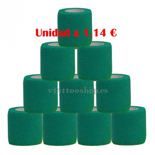 cohesive bandage green dark 12 units