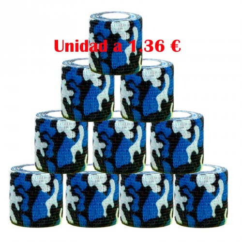 GRIP COVER MILITARY BLUE 50 mm 12 units