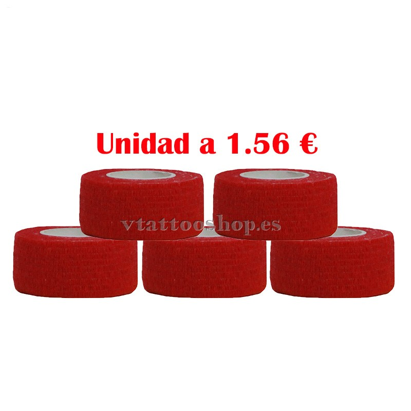 cohesive bandage red 25 mm 5 units