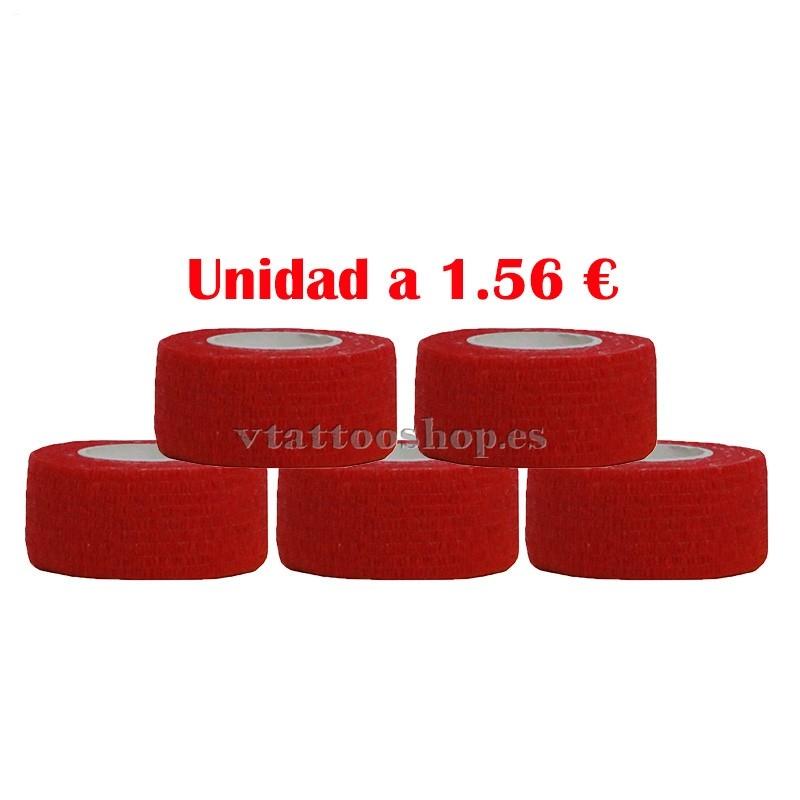Cubre grip rojo 25 mm 5 unidades