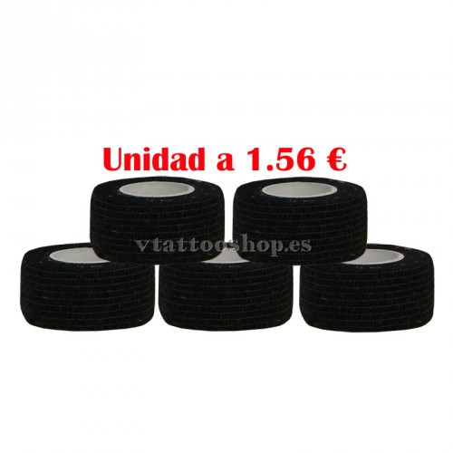 cohesive bandage black 25 mm 5 units