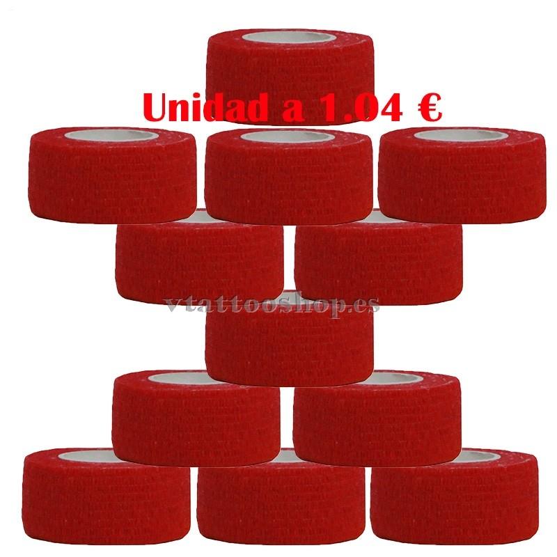 cohesive bandage red 25 mm 12 units