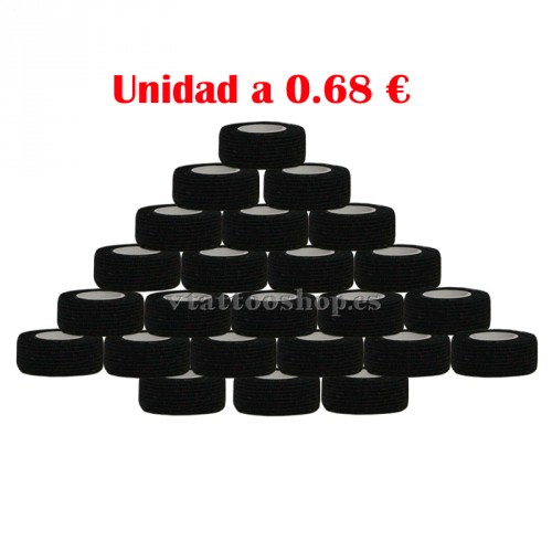 cubre grip negro 25 mm 24 u